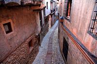 Albarracín street. Teruel.