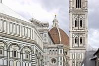 The Basilica di Santa Maria del Fiore, Basilica of Saint Mary of the Flower, Florence, Italy.