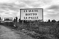 Italy, Legnano, Covid messagge.
