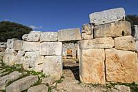 Cartailhac Circle, Iron Age dwelling, Torre d'en Galmés talayotic village, Alaior, Menorca, Balearic Islands, Spain.