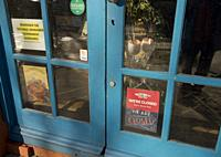 Shops in the world famous Camden Market closed, with some for sale and to let due to lockdown Covid-19/Coronavirus pandemia restrictions in London,Eng...