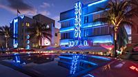 Ocean Drive Hotels. Miami Beach. Florida. USA.