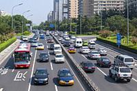 Beijing Traffic. Beijing. China.