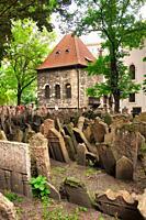 Old Jewish Cemetery, Josefov Jewish quarter, Prague, Czech Republic, Europe.