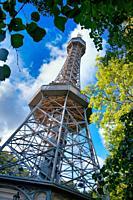 Petrin lookout tower, Prague, Czech Republic, Europe.