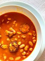 Beans stew. Spain.