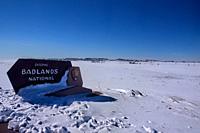 Entry to the Badlands National Park, South Dakota, U. S. A.