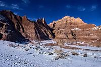 Trail to Saddle Pass in the Badlands National Park, South Dakota, U. S. A.
