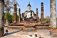 Sukhothai Historical Park, Wat Mahathat (13-14th century). Thailand.