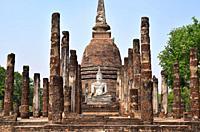 Sukhothai Historical Park, Wat Sa Si (13-14th century). Thailand.