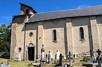 Church of saint Gordien, Saint-Paul-d'Oueil, Haute Garonne department, Occitanie, France.