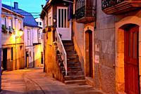 Street in th old town of Viana do Bolo, Orense, Spain.