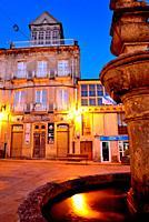 Main square of Viana do Bolo, Orense, Spain