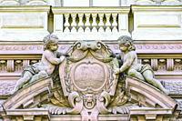 Coat of arm. Downtown St. Petersburg, Russia.