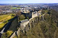 Aerial view of Stirling Castle , Stirling, Scotland UK.