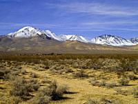 Eastern Sierra Nevada with Owens Peak. Inyokern. Kern County. California. USA.