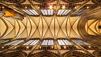 Gothic Ceiling. The Cathedral. Cologne. Germany.