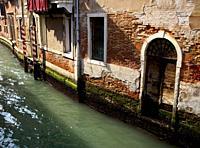 Canal By Building. Italy, Veneto, Venice