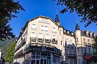 Buildings, Bagnères-de-Luchon, Haute-Garonne department, Occitanie, France.