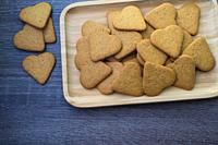 Heart-shaped cereal cookies.