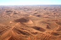 Namib Desert see from the air. Dunes. Namibia.