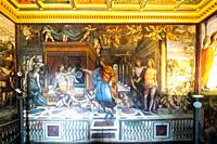 The Room of the Marriage of Alexandes the Great and Roxanne in villa Farnesina frescoed by Giovanni Antonio Bazzi known as Il Sodoma (1519) - Roma, It...