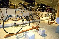 Vintage historica; bicycle at the Henry Ford Museum at Greenfield Village Dearborn, Michigan.