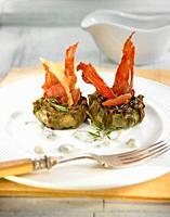 artichokes with Iberian ham.