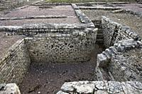 cellar on the site of the dwellings, Gallic oppidum of Alésia, Bourgogne, France.