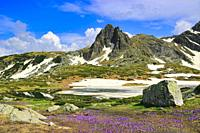 Mt Haramiyata and Lake Bliznaka, Seven Rila Lakes, Rila National Park, Bulgaria.