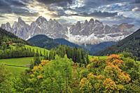 Val di Funes, South Tyrol, Dolomites, Italy.