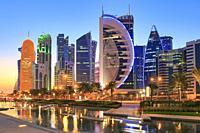 West Bay at Dusk, Doha, Qatar.