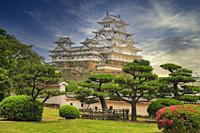 Himeji Castle, Honshu, Japan.