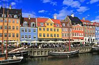 Nyhavn, Copenhagen, Denmark.