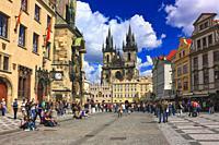 Old Town Square, Prague, Czechia.