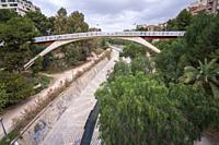 Elche Alicante Spain Vinalopo river bed.