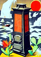 In 1925 the great Swiss poster artist Niklaus Stoecklin (1896 - 1982) humorously anticipated in promotion of Eskimo heating stove. Niklaus Stoecklin, ...