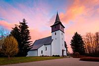 Gothic church in Turciansky Peter village, Turiec region, Slovakia.