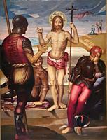 Fernando Yañez de Almedina. Almedina, Ciudad Real, ca. 1475 - 1536. The resurrection of Christ. Oil on wood