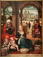Miguel Esteve. Valencia between 1510 - 1528, Spain. Holy Family. Oil on wood