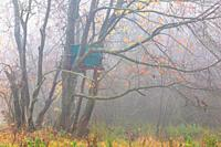 Hunting lookout in the foothills of Velka Fatra mountains, Slovakia.