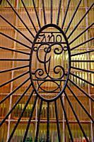 wrought iron window grille, Barcelona, Catalonia, Spain