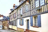 Historical homes in Honfleur,. France.