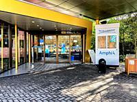 Breda, Netherlands. Entrance of Amphia Hospital, opened up for Corona / Covid-19 Vaccination.