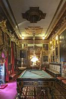 billiards room in the Cerralbo museum. It houses the art and historical object collections of Enrique de Aguilera y Gamboa, Marquis of Cerralbo, who d...