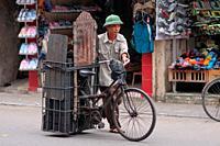 Man selling charcoal, hanoi, vietnam