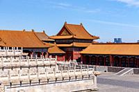 Impressions from the Forbidden City in Beijing, China in March 2018.