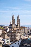 The Grossmünster, the Zurich cathedral, in Zurich, Switzerland in September 2018.