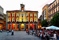 Old City Hall in the Main square of Zamora, Spain.