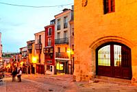 Balborraz street in the center of Zamora, Spain.